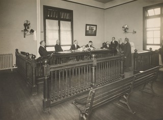 "Judge, lawyer and juries on a courtroom, which is part of the blog ""appeal conviction""."