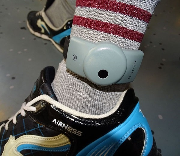 "Tracking device implanted on an ankle and that represents the ""mandatory wearing of monitoring ankle bracelet"" blog."