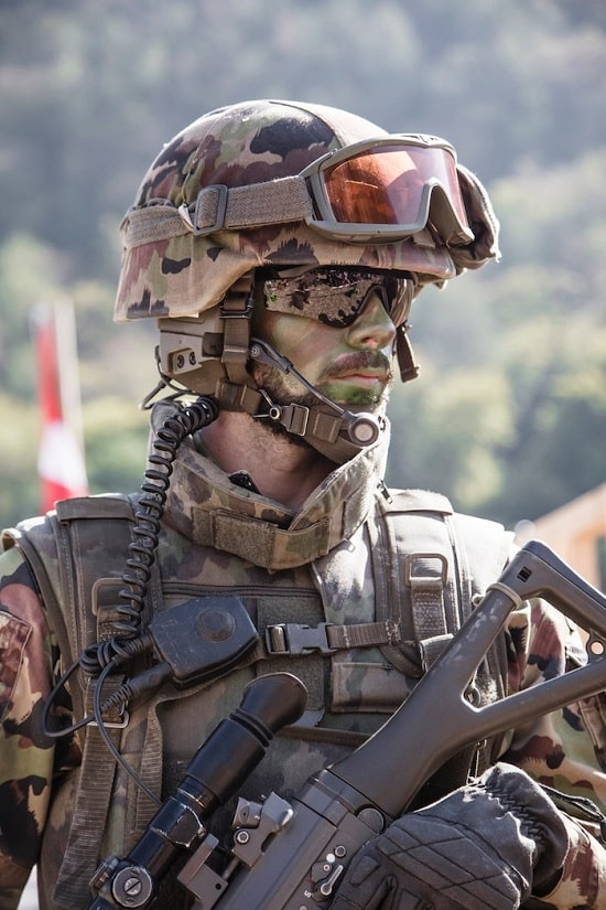 "Fully gear soldier that represents the ""brereton report and international humanitarian law"" blog."