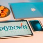 "Mobile, tablet with Lockdown screen and iPad devices as the featured image of ""perth covid lockdown and court's respond"" blog."